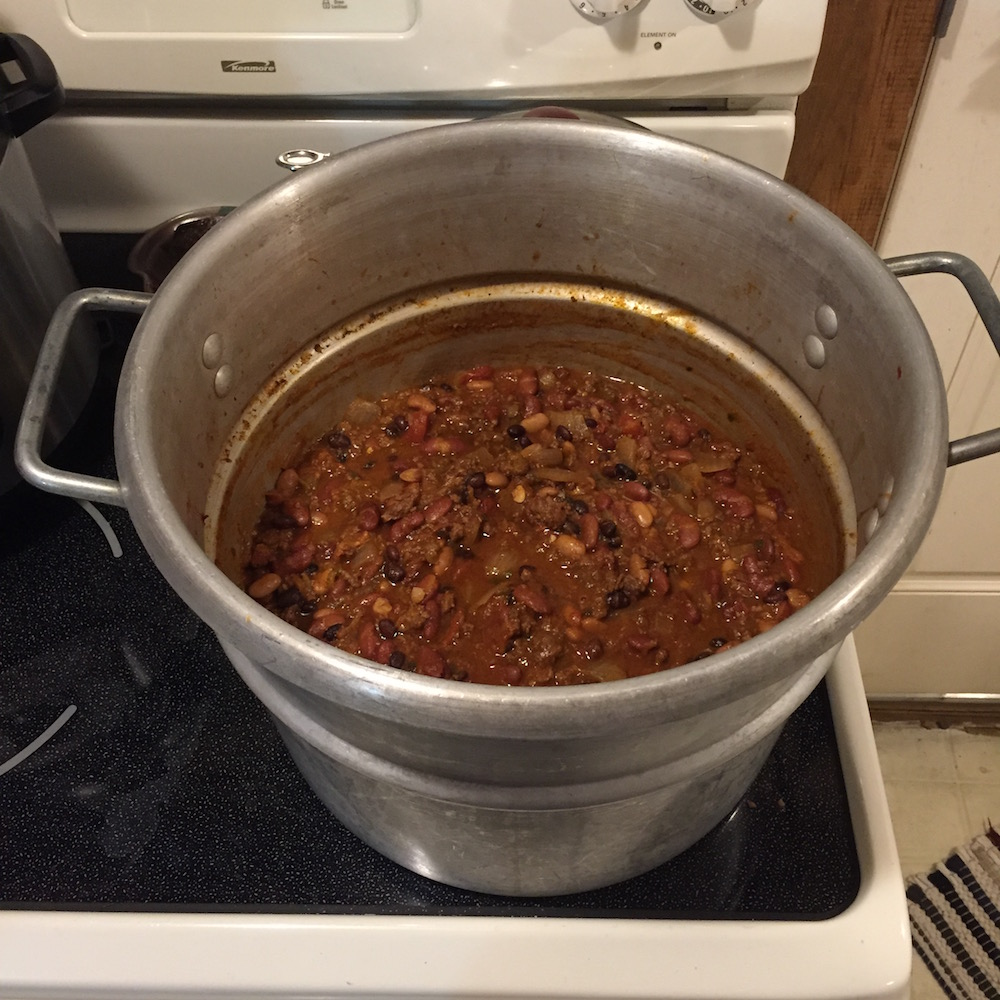 Batch cooking chili