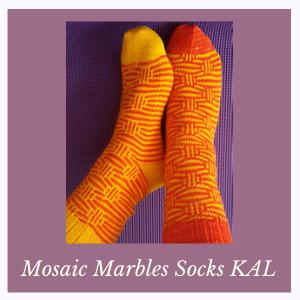 Mosaic Marbles Socks KAL