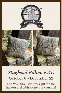 Stag Head Pillow KAL